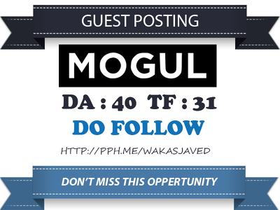 Publish a guest post on onmogul.com DA 40 TF Dofollow