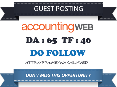 Publish a Do follow Guest Post on AccountingWeb.com