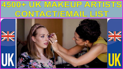 Provide you 4500 UK MAKEUP ARTISTS Contact/Email database