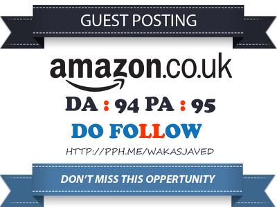 Publish Premium Guest post on Amazon.co.uk DA 94 Dofollow Link