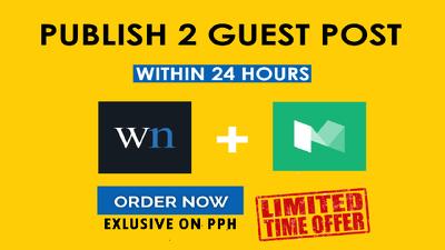 Do Guest Post on wn.com and medium.com