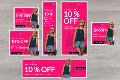 Design Google Adwords Image Banner Ad Set (10 sizes)