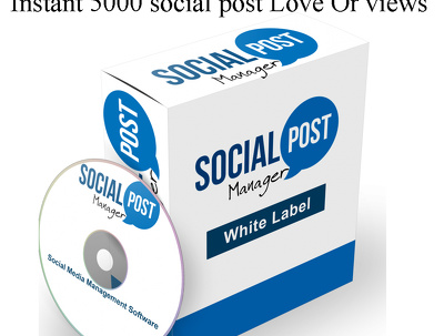 Instant 5000 social post Love Or views
