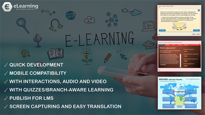Develop interactive e-Learning module with Q&A + LMS