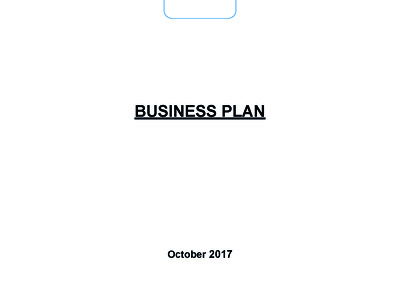 Write a comprehensive business plan relevant to your needs