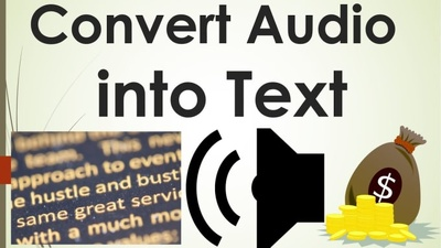 Provide you  AUDIO TO TEXT  work in time and accuretly.