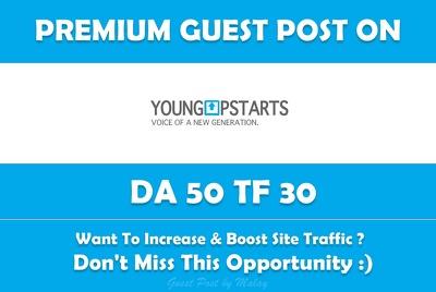 Publish Guest Post on YoungupStarts. Youngupstarts.com - DA 50
