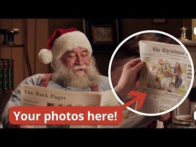 Add your family photos in Santa's Christmas Newsletter (UNIQUE)