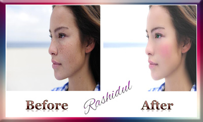 Retouch 10 modeling photos.
