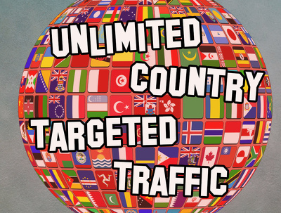 Send 50000 Country  targeted traffic for 30 days