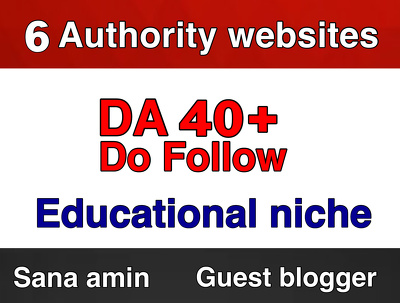 Publish 6 Authority Guest post DA 40 Educational Niche