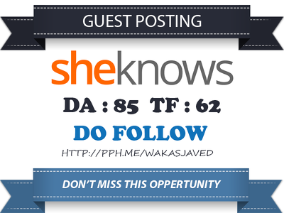 Publish Guest Post on Sheknows.com DA 85 TF 62 Dofollow