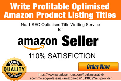 Write three Profitable Optimised Amazon Product Titles