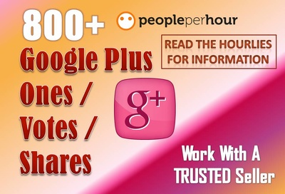 Get you Google plus- Ones or Votes or Share for Site, Video ETC