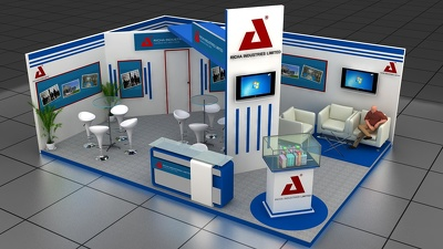 Design your 3d exhibition stall, booth, kiosk