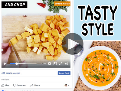 Produce Facebook/Instagram optimised recipe cooking video