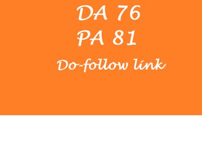 Provide Dofollow Guest Post Backlink Having Da 76 Pa 81