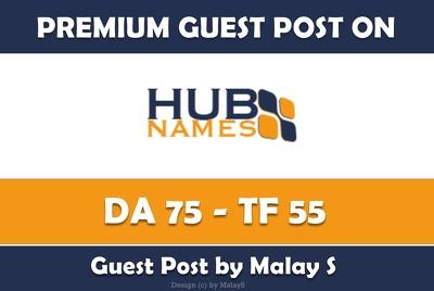 Write & Publish Guest Post on Hubnames.com - DA 75, TF 55