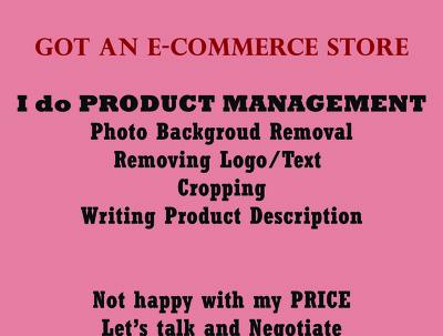 Change background photo, write product description- 50 products