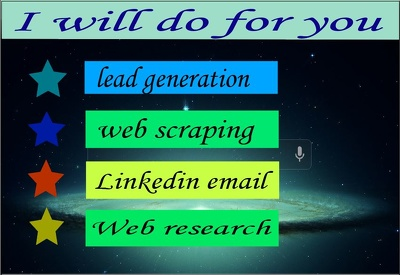 Do Lead generation on Linkedin, Email list building