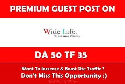Write & Publish Guest Post on Wideinfo.org - DA 50