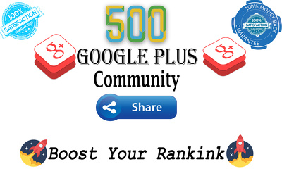 Share Your Link 500 Google Plus Community