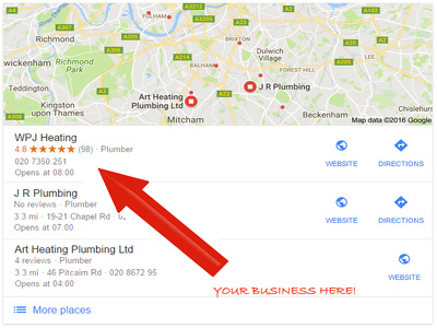 Force your Google My Business page to the top. UK Local SEO