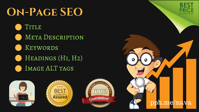 On Page SEO Optimization for Title, Meta Description, ALT tags