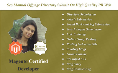 SEO manual offpage directory submit on high quality PR website