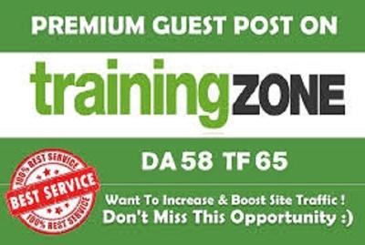Publish a guest post on TrainingZone - TrainingZone.co.uk, DA 60