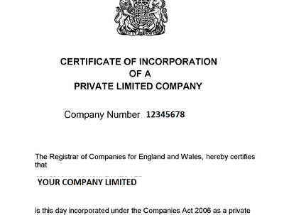 Register your limited company with Companies House