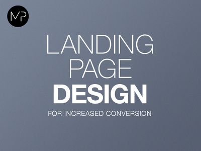 Design a professional landing page for increased conversion