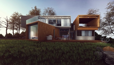 Create a high detailed 3d model exterior and interior