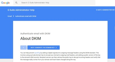 Stop phishing using DKIM certificate on G Suite / Google Apps