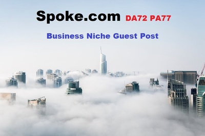 Write & publish guest post Spoke.com DA72 & PA77 business niche