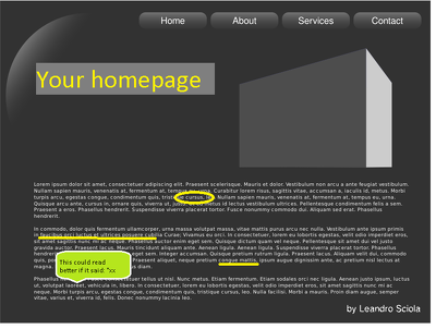 Review, proofread, and edit your homepage copy