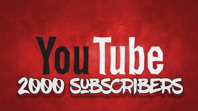 Promote your YouTube channel to gut 2000 plus subs in a week