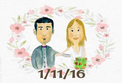 Design a unique personal wedding invitation