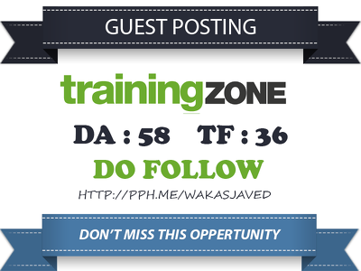 Publish a guest post on TrainingZone.co.uk (DA 58) Dofollow