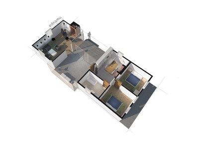Make stunning 3D floor plan visual from your 2d drawings