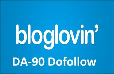 Guest post on bloglovein.com DA90 dofollow backlink