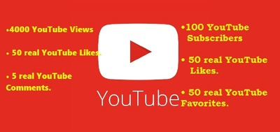 YouTube Rank: 3000 views|250 likes|100 subscribers|50 favorites