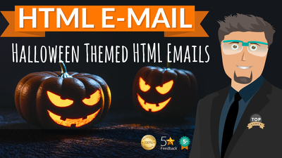 Halloween Themed HTML email, Newsletter design