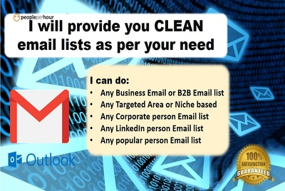 Provide You Clean Email List As Per Your Need