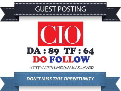 Write a guest post on CIO.com (DA 89) Tech Backlink