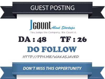 Publish Do Follow Guest Post on Jcount.com Premium Website Link