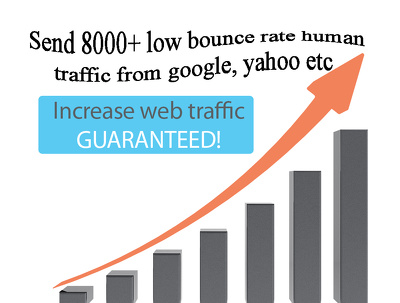 Send 8000+ low bounce rate human traffic from google, yahoo etc.