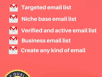Provide you 10k targeted email list