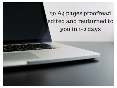 Proofread and edit 20 pages or less
