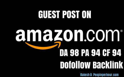 Get a DOFOLLOW Backlink - Guest Post on Amazon Amazon.com (DA98)